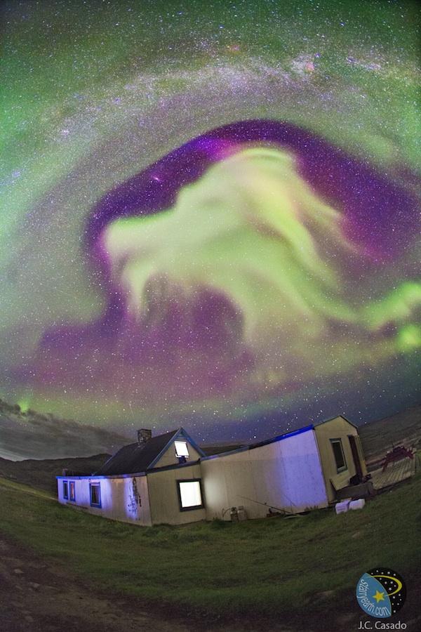 Goat Aurora Over Greenland